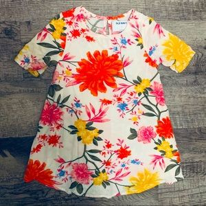 Old Navy Bright Floral Print Dress Size 2 T